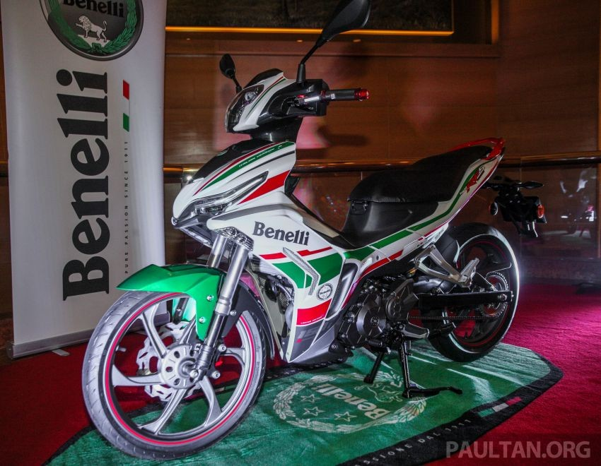 Benelli RFS150i with the Tricolore stamp set