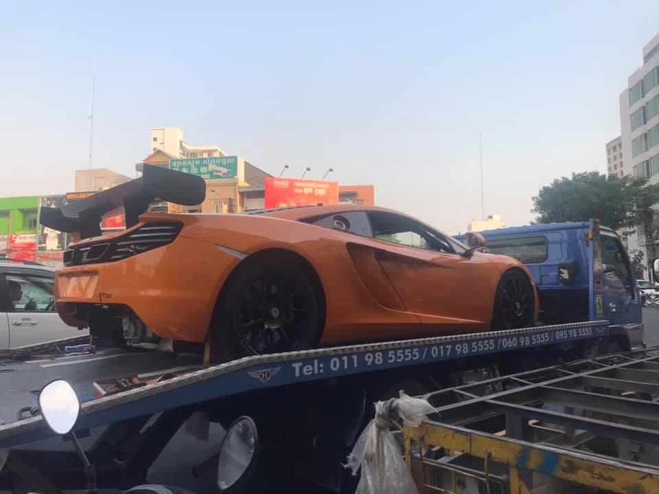 Độ chịu chơi của đại gia Campuchia nâng lên tầm cao mới khi tậu siêu xe dành cho đường đua McLaren MP4-12C GT3