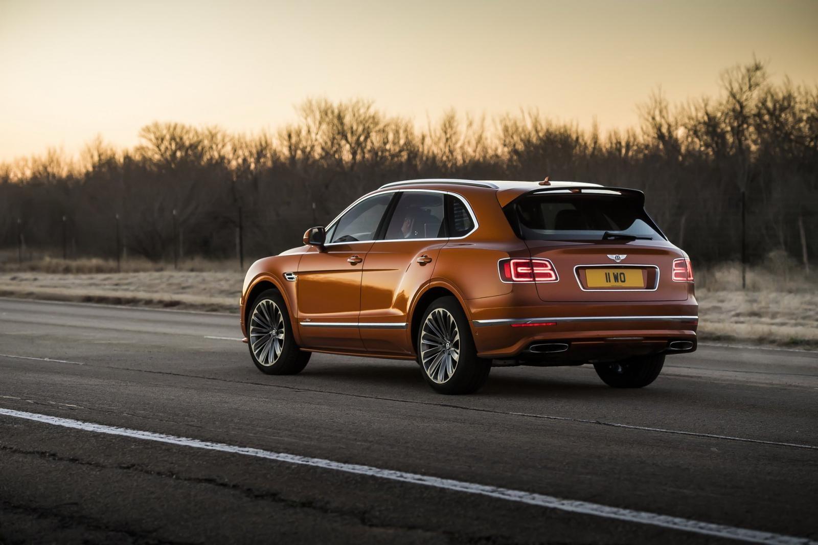 Bentley Bentayga Speed 2019 được trang bị hệ thống treo nâng cấp