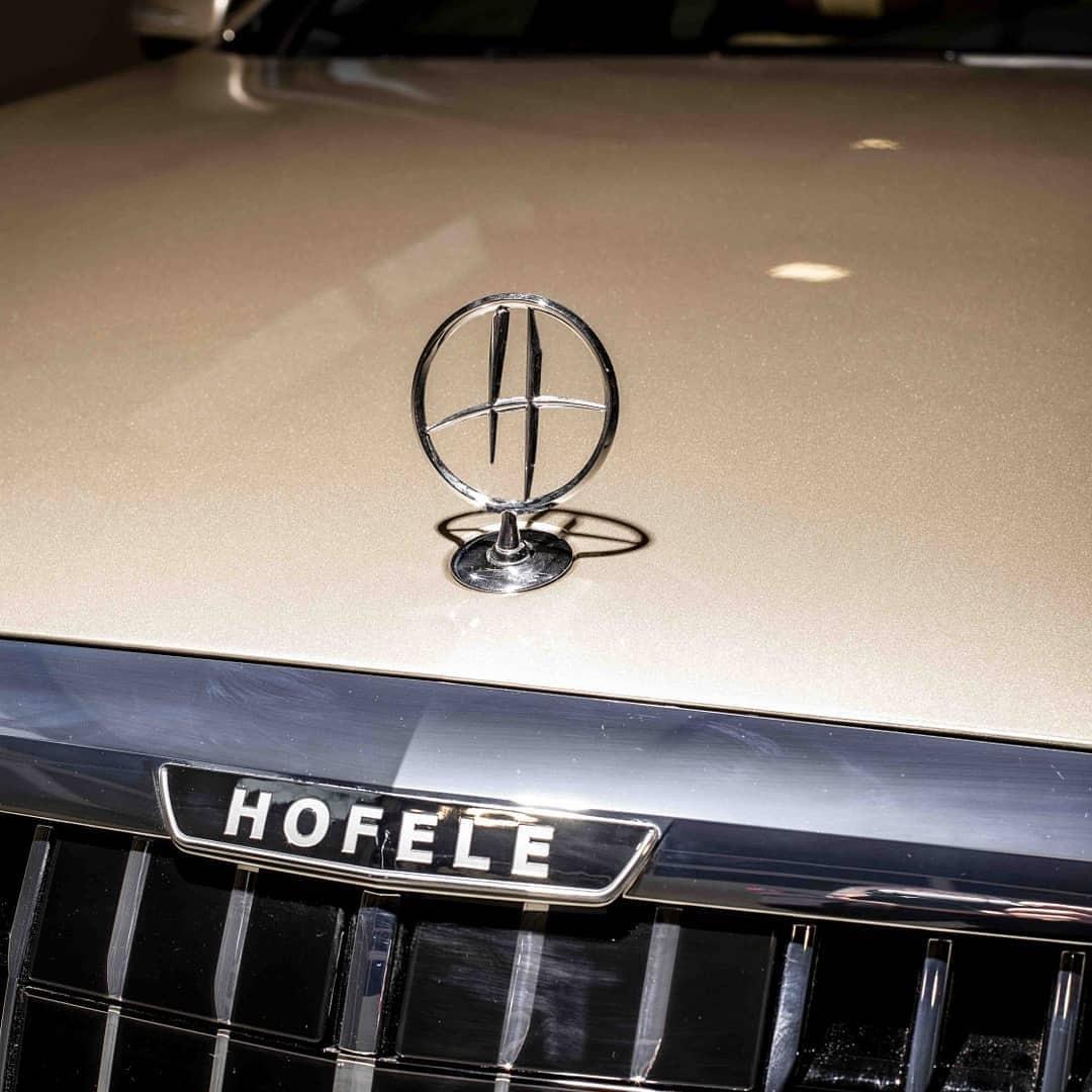 Logo của hãng độ Hofele xuất hiện trên chiếc Mercedes-Benz S-Class