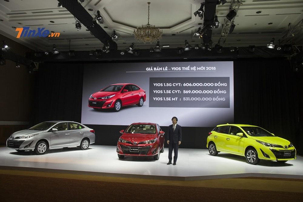 Phân phối ra thị trường với 3 phiên bản cùng giá bán từ 531 – 606 triệu đồng, Toyota Vios 2018 nhanh chóng hút khách Việt sau khi ra mắt