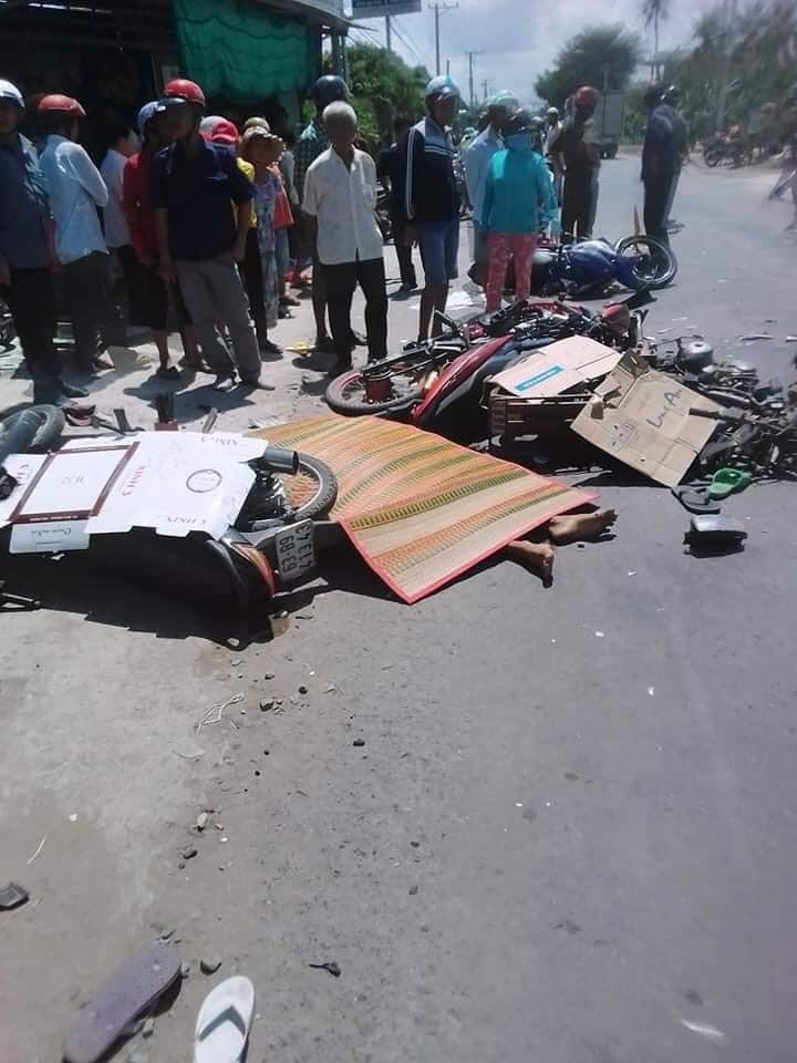 Hiện trường vụ tai nạn tại Long An khiến 1 người chết