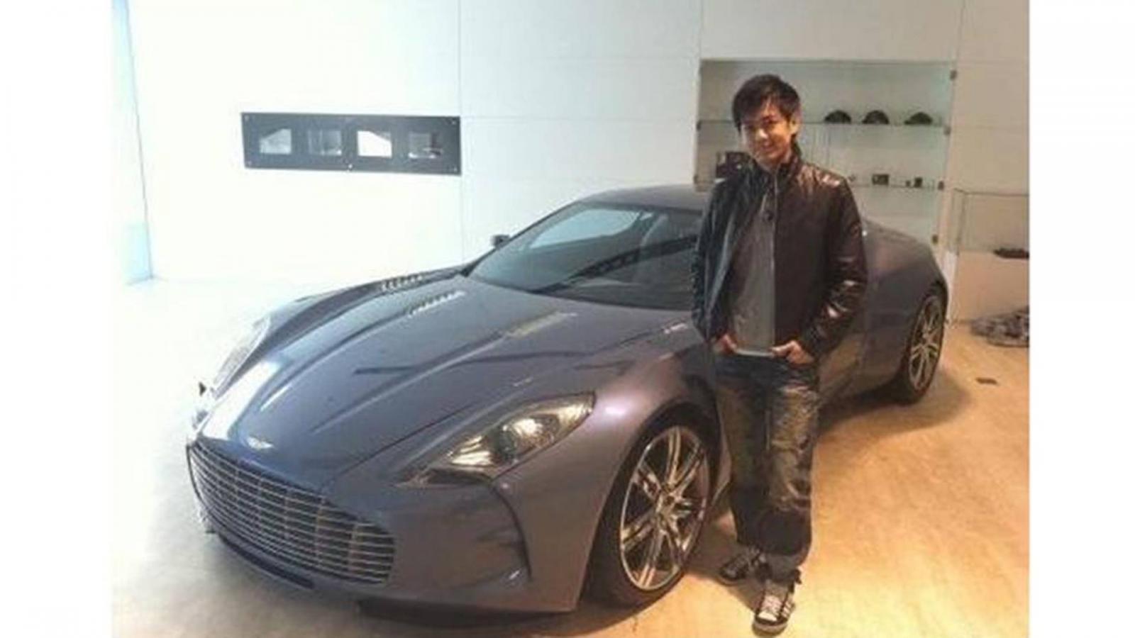 Lâm Chí Dĩnh chụp cùng Aston Martin One-77