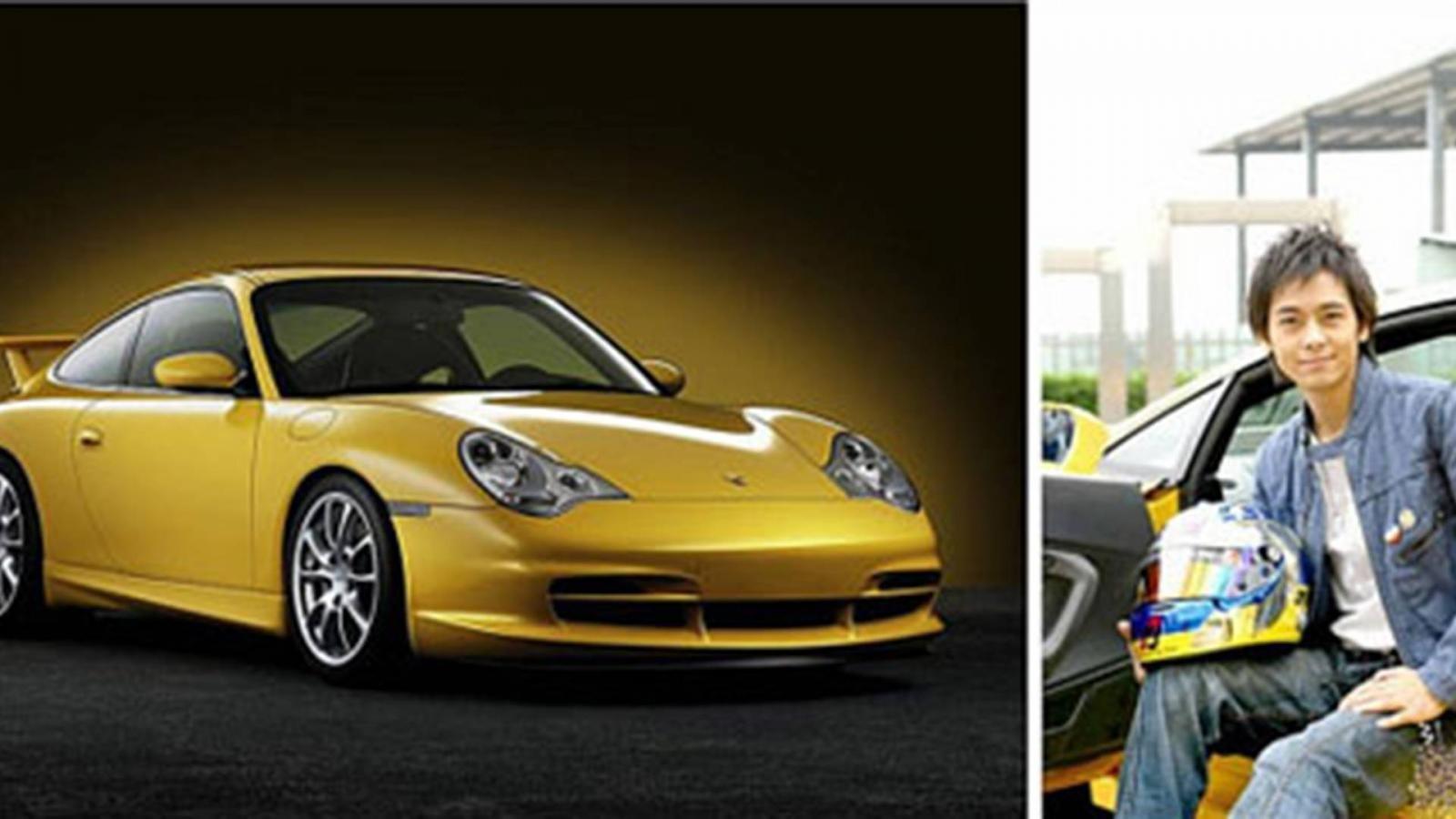Cận cảnh chiếc Porsche 996 màu vàng của Lâm Chí Dĩnh