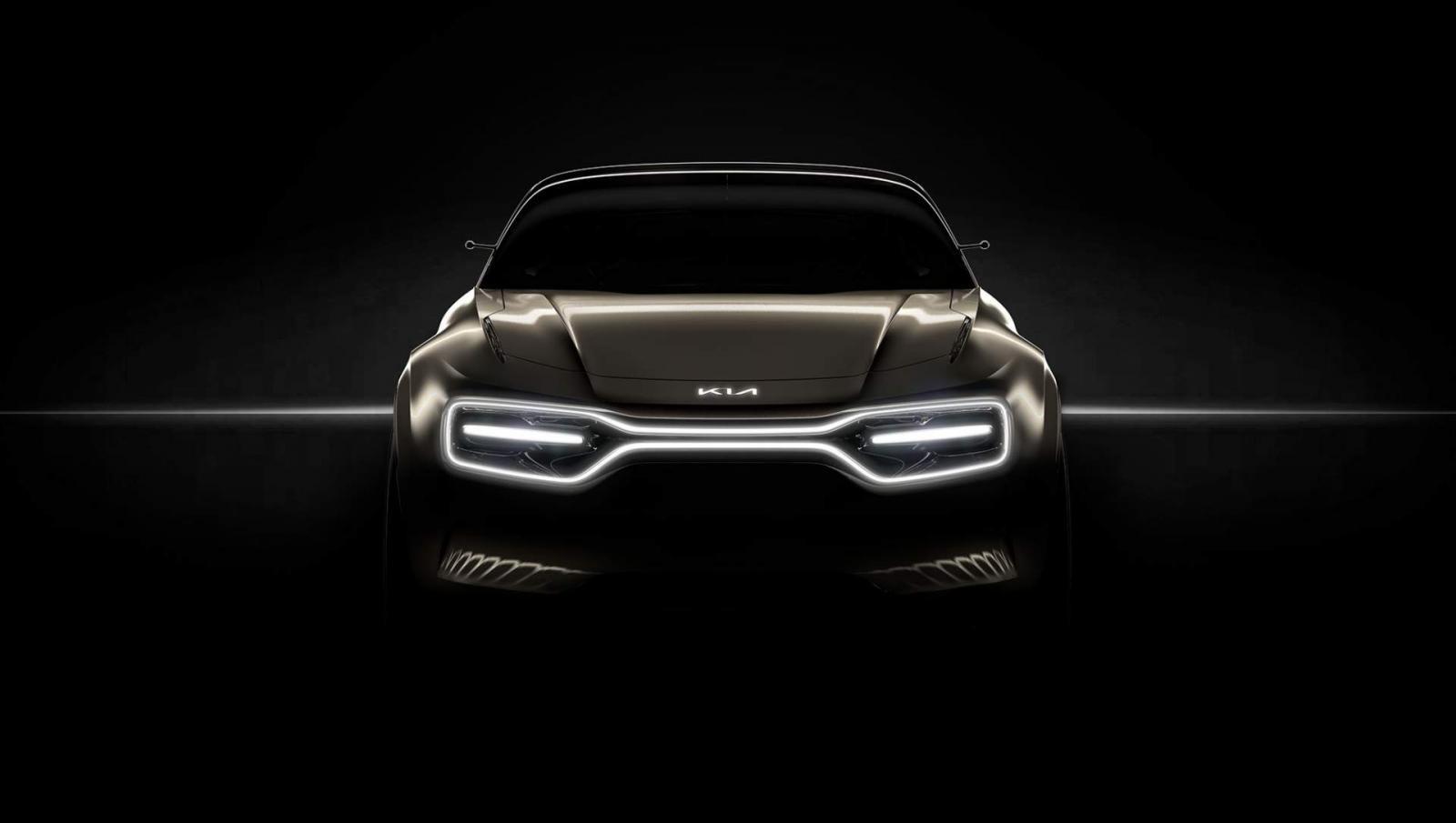 Hình ảnh hé mởmẫu xe điện concept mới chưa được đặt tên của Kia