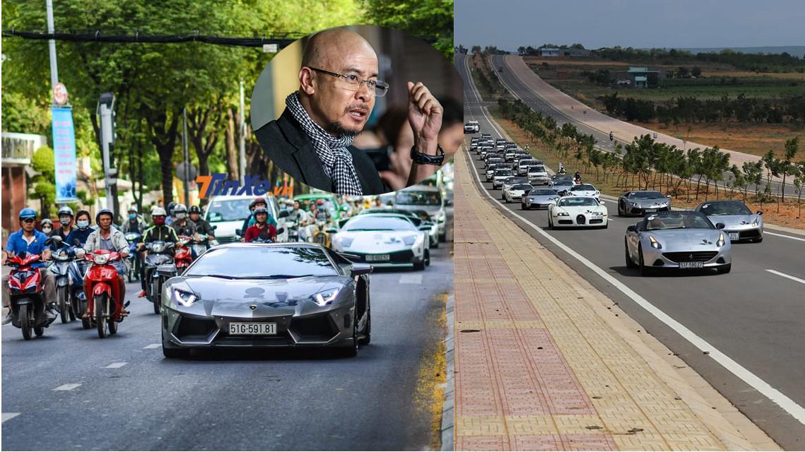 1 phần nhỏ bộ sưu tập siêu xe của ông Đặng Lê Nguyên Vũ