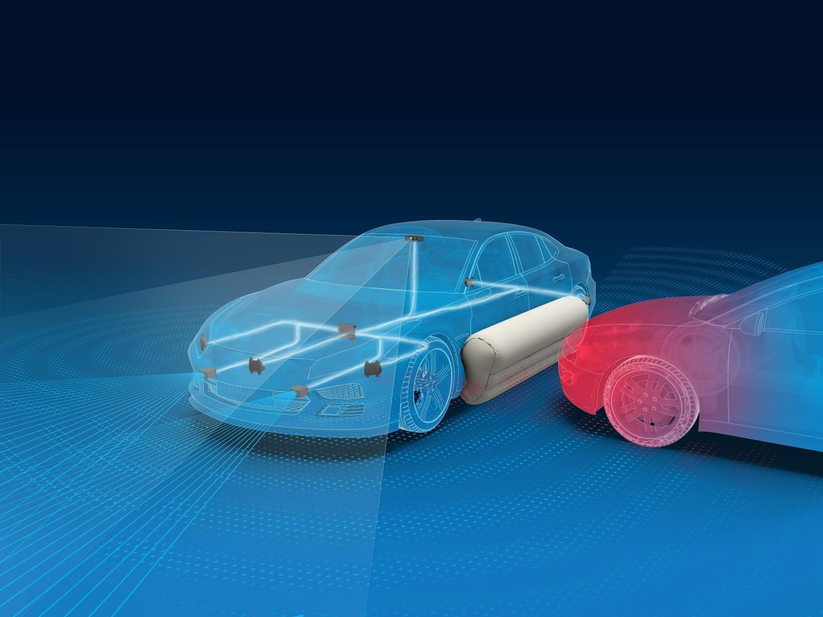 Hệ thống túi khí ngoại thất sẽ hoạt động cùng với một bộ hệ thống cảm biến tân tiến