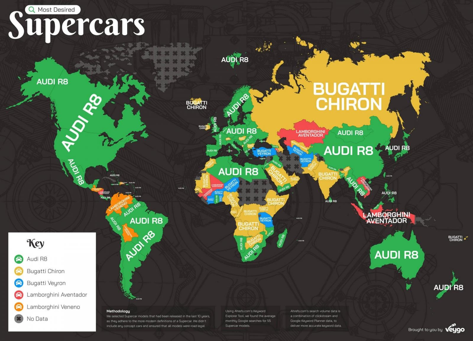 Các mẫu siêu xe được khao khát nhất ở từng nước trên thế giới