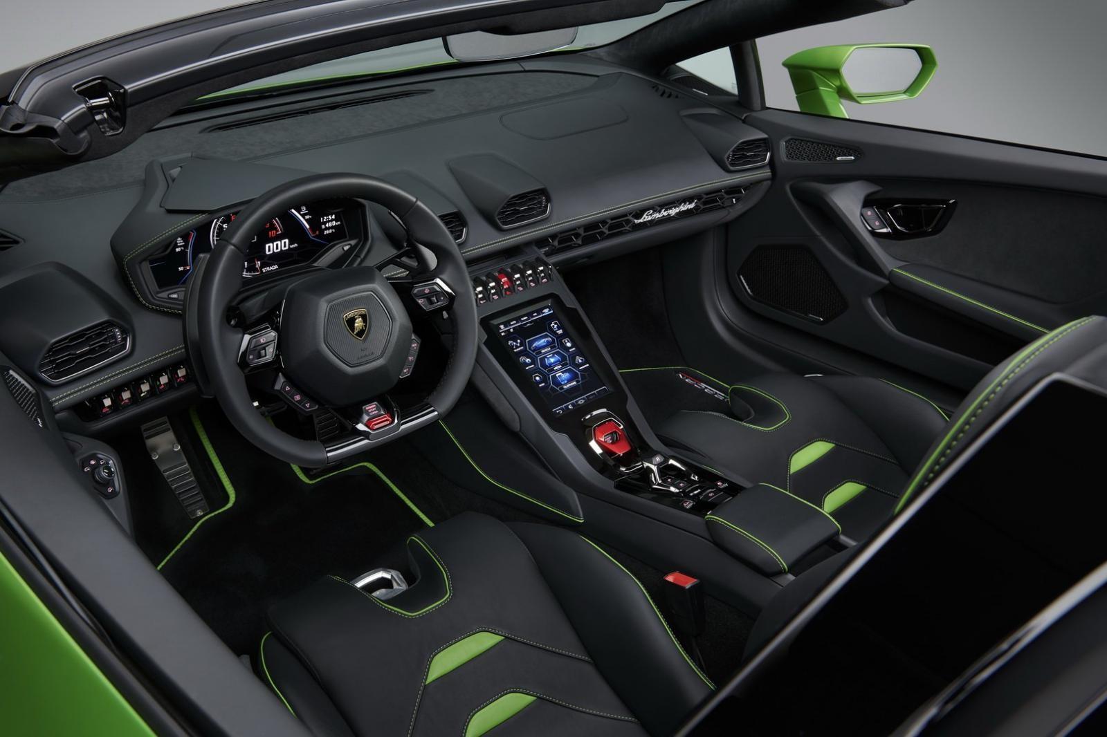 Nội thất của Lamborghini Huracan Evo Spyder
