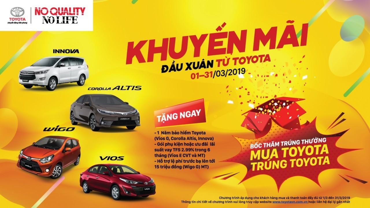Trong tháng 3/2019, Toyota Việt Nam áp dụng nhiều khuyến mãi đối với nhiều dòng xe