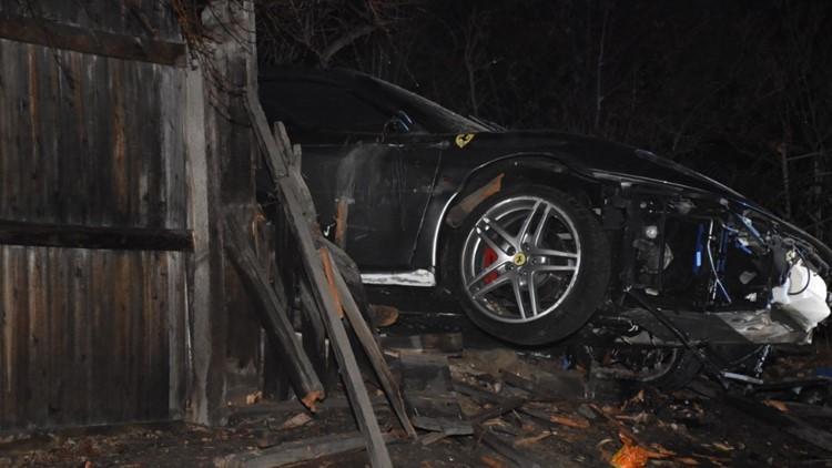 Hiện trường vụ tai nạn của chiếc Ferrari F430