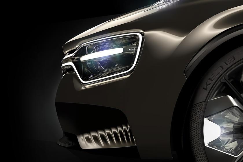 Hình ảnh nhìn gần mũi xe concept Kia chưa được đặt tên