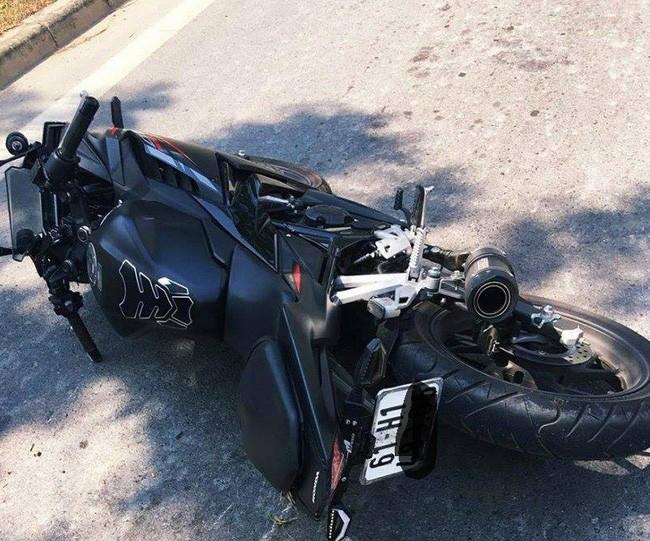 Chiếc mô tô Honda CBR150R không bị hỏng nặng