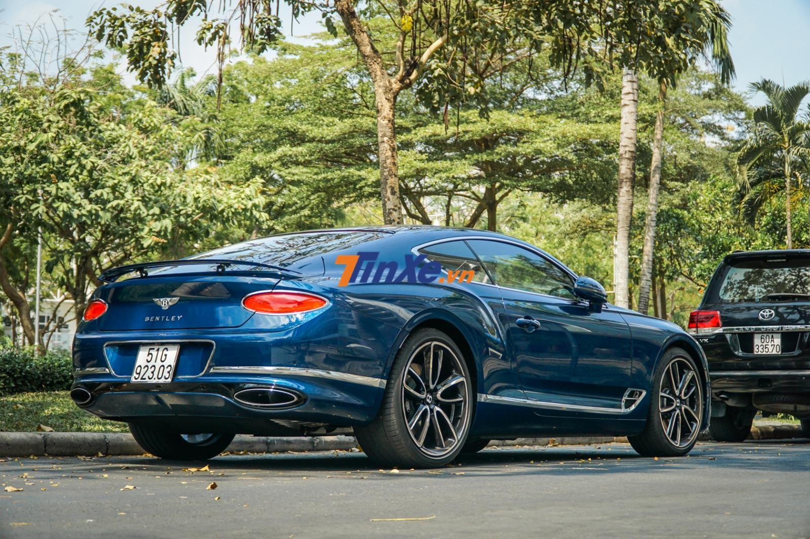 Bentley Continental GT 2018 có khả năng tăng tốc từ 0-100 km/h trong thời gian 3,7 giây
