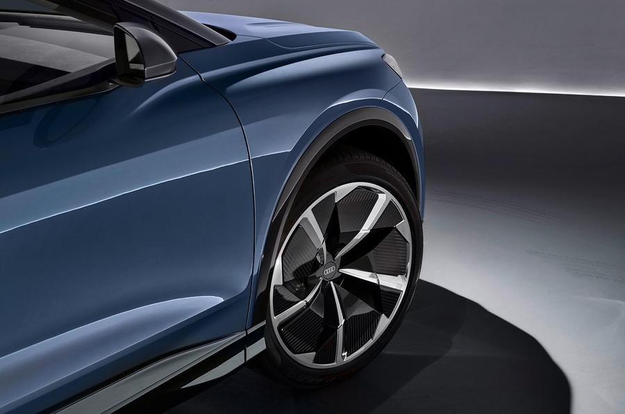 Thiết kế la-zăng cực chất nhưng khó mà được giữ nguyên khi Audi Q4 E-tron có bản thương mại chính thức
