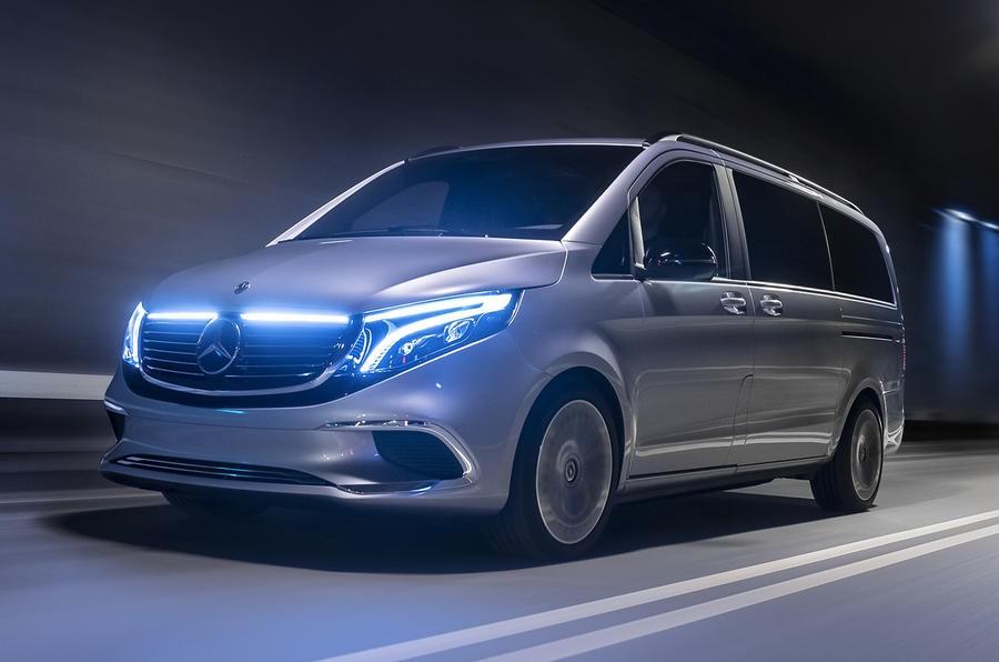 Vẻ ngoài của EQV có những đặc điểm giống những mẫu EQ khác của Mercedes-Benz