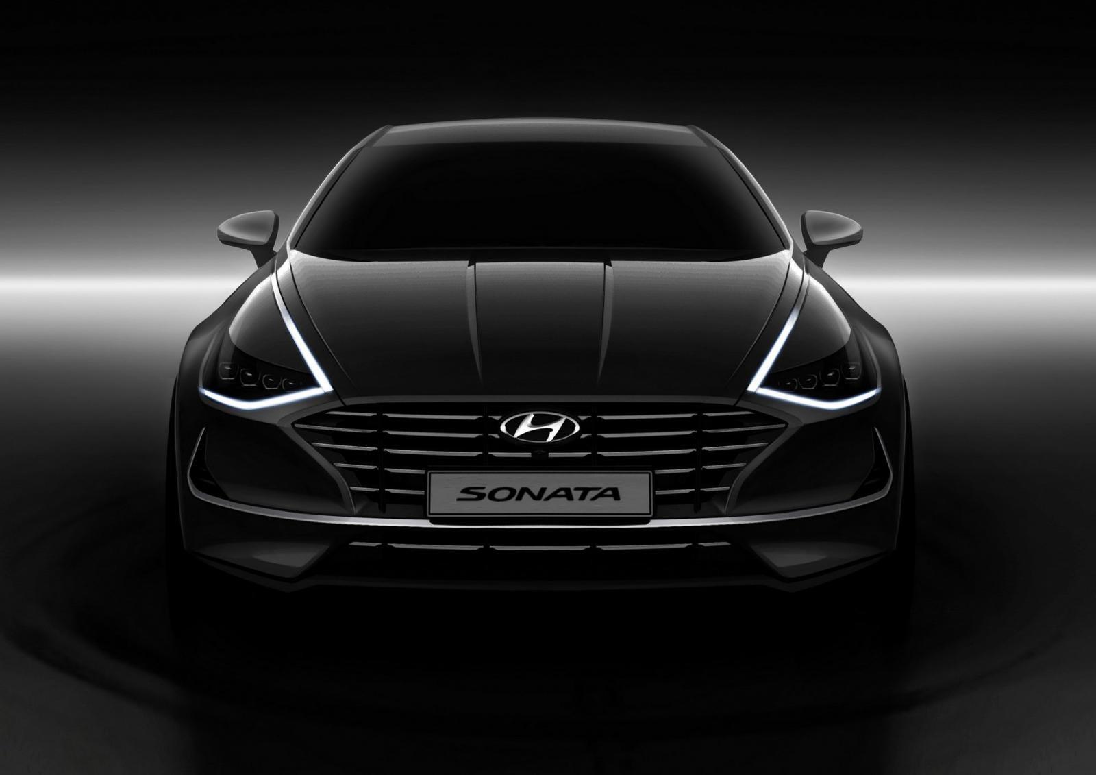 Dải đèn LED định vị của Hyundai Sonata 2020 có thiết kế như dải crôm
