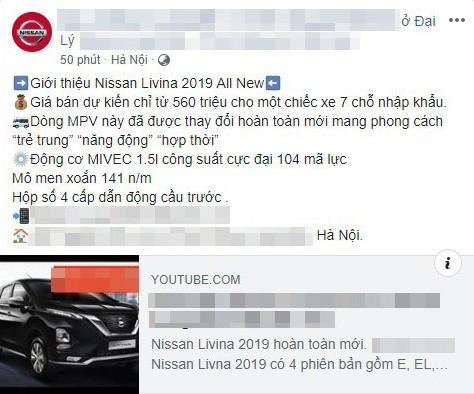 Đại lý Nissan hé lộ việc Livina 2019 về Việt Nam trong tương lai