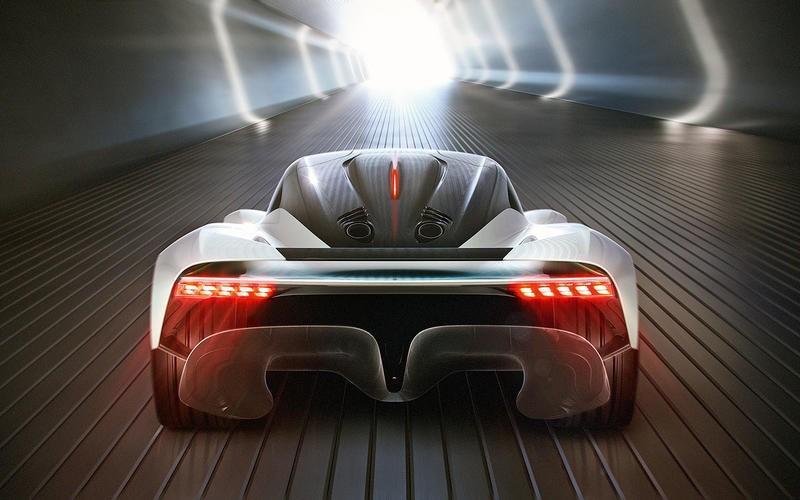 Phía đuôi xe có đèn hậu LED đẹp mắt và cánh gió đuôi ảo FlexFoil