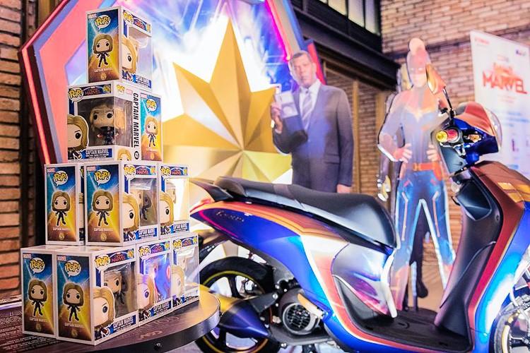Chiếc xe Yamaha Janus phiên bản Captain Marvel đặc biệt