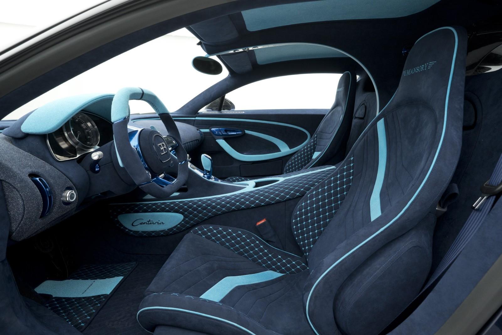 Nội thất của Bugatti Chiron Centuria