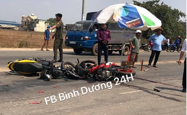 Hiện trường vụ tai nạn (Nguồn: Facebook)