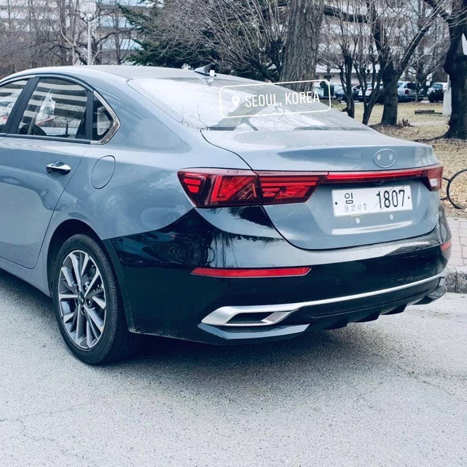 Thiết kế đuôi xe của Kia K3 2019 dành cho Trung Quốc trông thể thao hơn