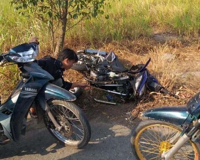 Chiếc Honda Winner 150 trong vụ tai nạn