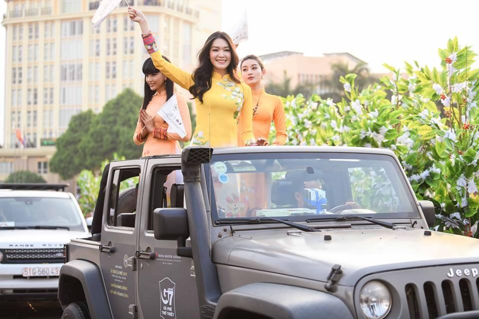 Lễ hội cà phê Buôn Ma Thuột có đông đảo Hoa hậu và Á hậu góp mặt