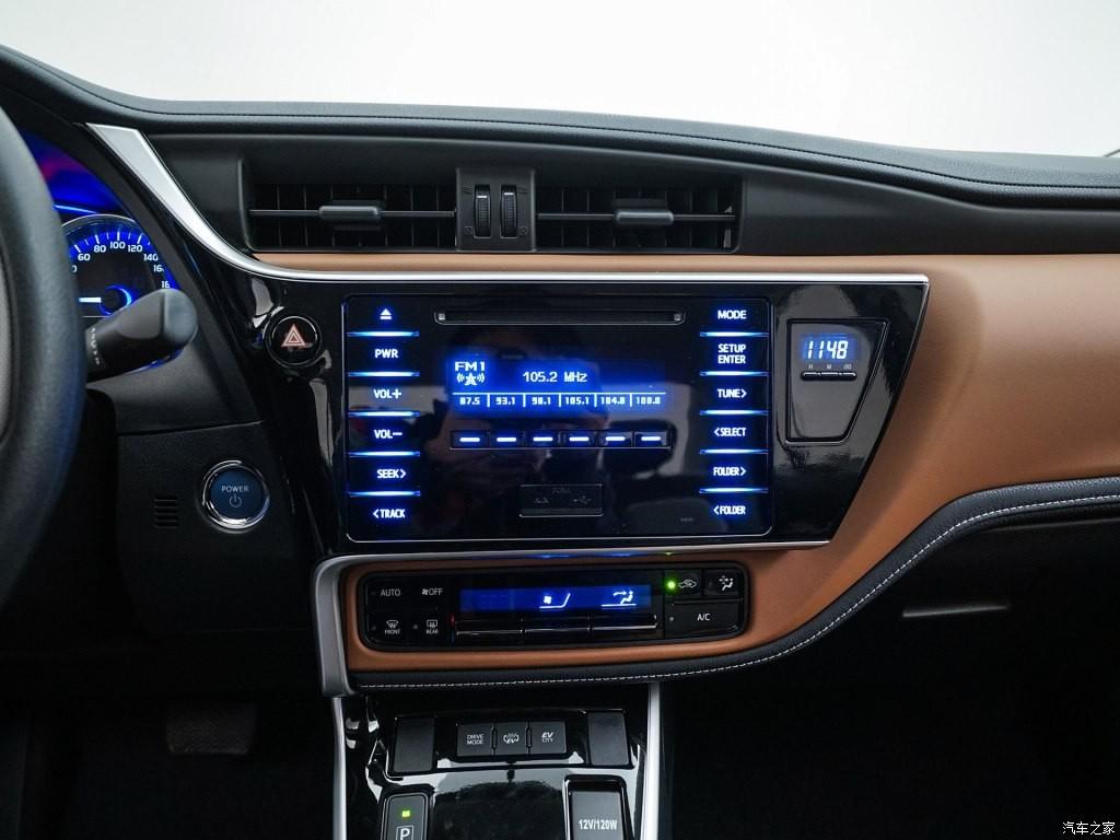 Màn hình thông tin giải trí cảm ứng 8 inch của Toyota Levin E+ 2019