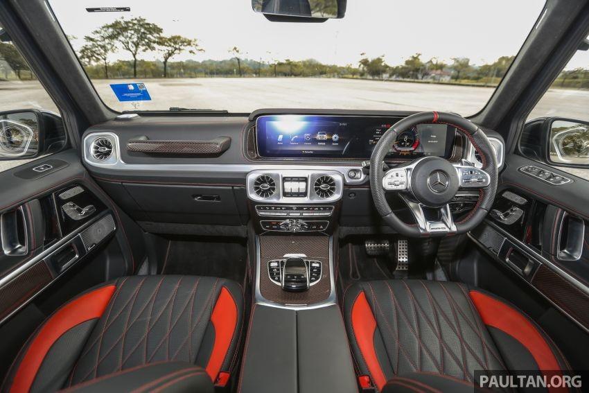 Mercedes-AMG G63 2019 có 2 màn hình 12,3 inch liền nhau