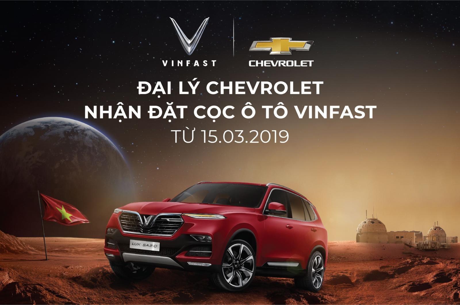 Từ nay người Viết có thể đặt cọc xe VinFast tại hệ thống đại lý Chevrolet trên toàn quốc