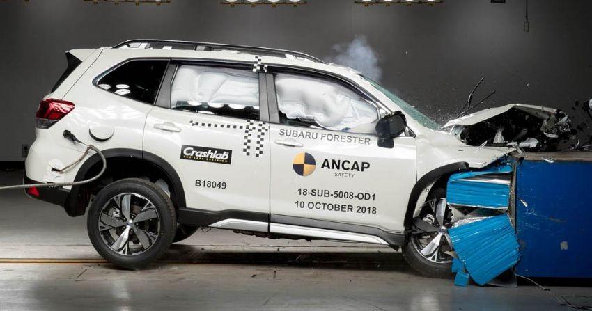 Subaru Forester 2019 trong thử nghiệm va chạm trực diện