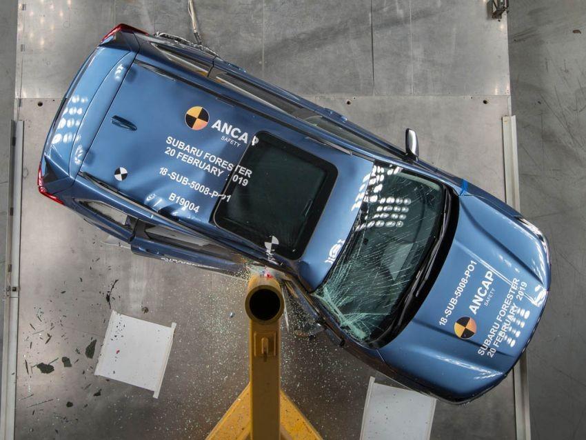 Subaru Forester 2019 trong thử nghiệm va chạm bên sườn