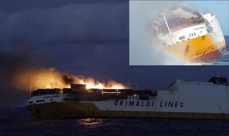 Tàu Grande America bốc cháy trước khi bị đắm ngoài khơi