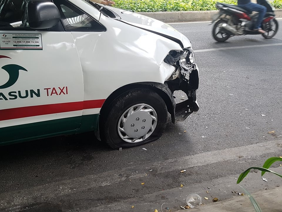 Thiệt hại của chiếc taxi