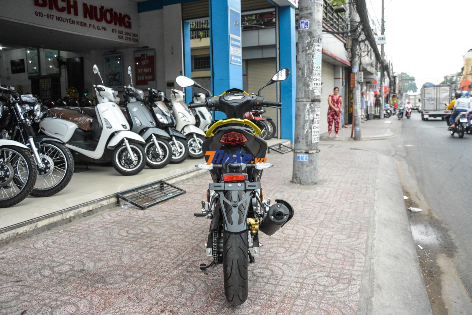 Những chiếc Benelli RFS 150i nhập về Việt Nam là của thị trường Malaysia