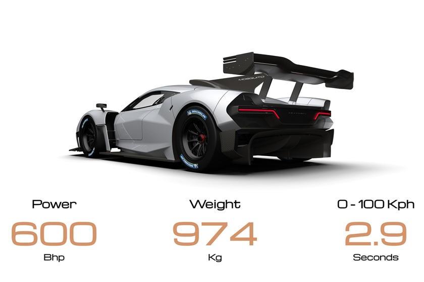 Toàn bộ thân xe được làm bằng sợi carbon có trọng lượng siêu nhẹ