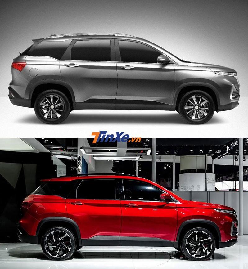 So sánh thiết kế sườn xe của Chevrolet Captiva 2019 bản Thái Lan và Baojun 530