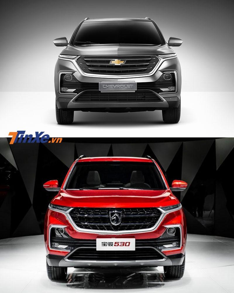 So sánh thiết kế đầu xe của Chevrolet Captiva 2019 bản Thái Lan và Baojun 530