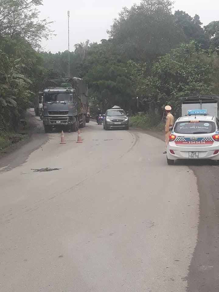 Chiếc ô tô tải gây tai nạn