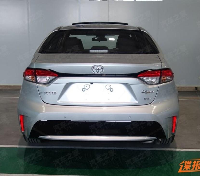 Thiết kế đuôi xe của Toyota Levin 2019 tại Trung Quốc