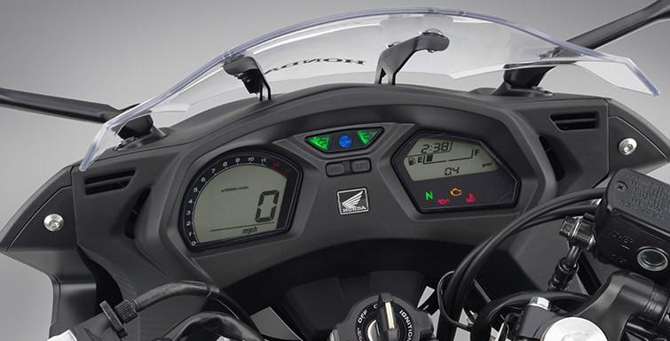 Bảng đồng hồ cũ trên Honda CBR650F