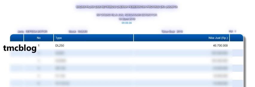 Tên mã DL250 của Suzuki V-Strom 250 xuáta hiện trong đăng ký thông tin xe của Suzuki Indonesia