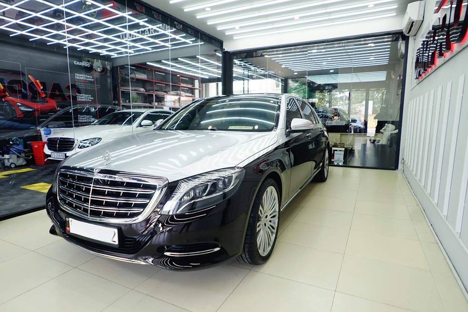 Nữ hoàng đồ lót Ngọc Trinh làm đẹp lại cho xe siêu sang Mercedes-Maybach S500 hơn 11 tỷ đồng