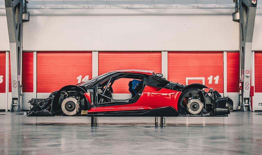 Ferrari P80/C được lấy khung sườn từ Ferrari 488 GT3