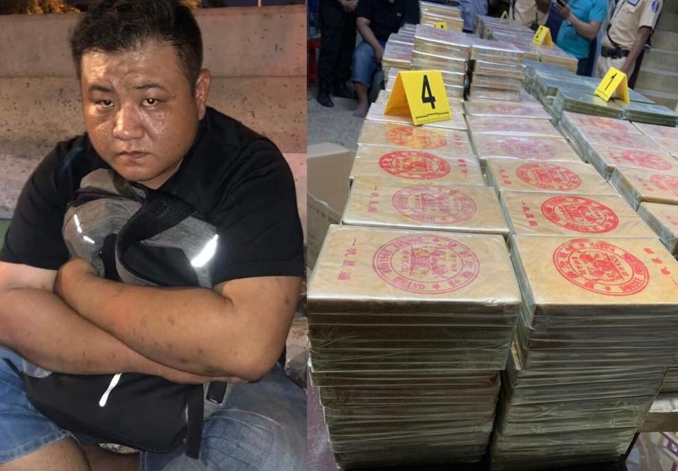 1 người nước ngoài cùng số ma tuý gần 300 kg bị thu giữ