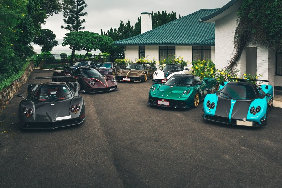 Pagani Zonda Uno rất hay góp mặt trong đội hình những chiếc xe Pagani Hồng Kông tụ tập cùng nhau