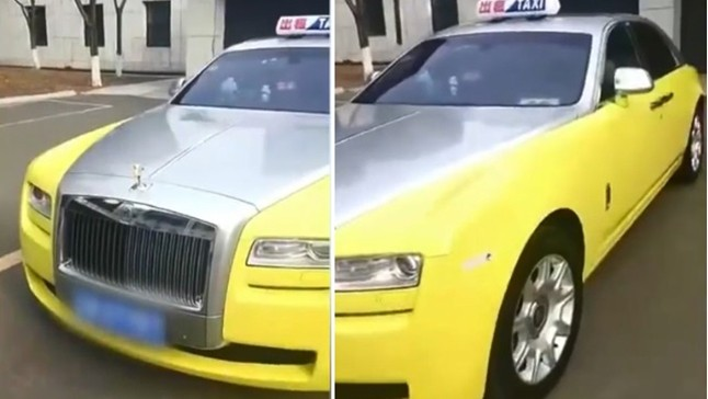 Chiếc Rolls-Royce Ghost không được đăng ký để chạy taxi
