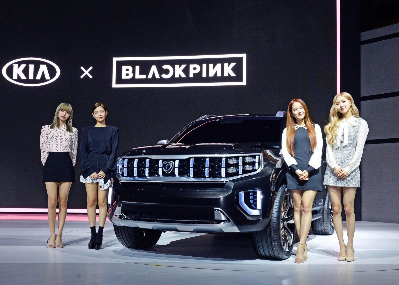 Ban nhạc nữ Black Pink xuất hiện trong sự kiện giới thiệu Kia Mohave Masterpiece